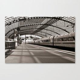 Train-Station of Berlin Canvas Print