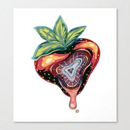 Strawberry Bashful Canvas Print