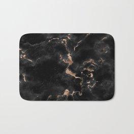 Chic abstract rose gold black elegant marble Bath Mat
