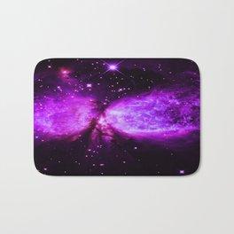 Space Galaxy : A star is born Purple Bath Mat