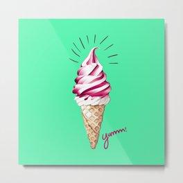 Yummy Ice Cream   Digital Art Metal Print