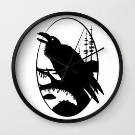 Raven Silhouette IV Wall Clock