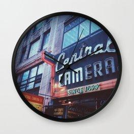 Central Camera Chicago Wall Clock
