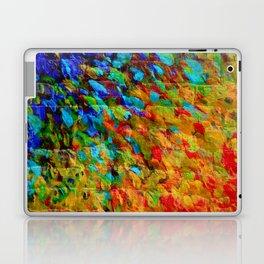 COLLISION COURSE - Bold Rainbow Splash Bricks Urban Jungle Ocean Waves Nature City Acrylic Painting Laptop & iPad Skin