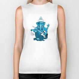 Ganesha rocks ! (v3) Biker Tank