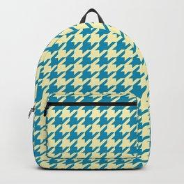 Houndstooth Azure Cream Pattern Backpack