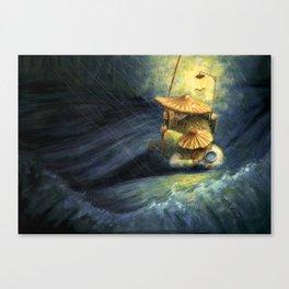 fisher fish Canvas Print