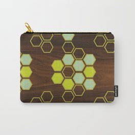 Hex in Green Carry-All Pouch