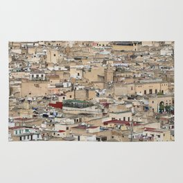 Skyline Roofs of Fes Marocco Rug