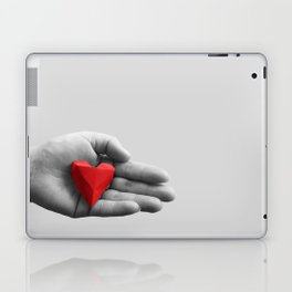 hand with red heart Laptop & iPad Skin