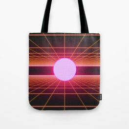 Retro 80s Grid 'Into the Void' Tote Bag