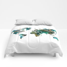 Map of the World tree #map #world Comforters