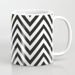 Geometric B/W Lines Pattern Coffee Mug