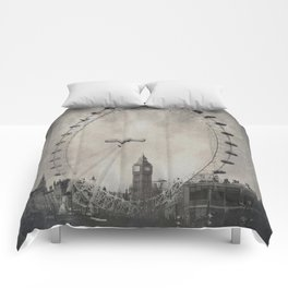 Big Ben and the London Eye, London - Tintype Comforters