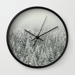 Snow Forest Wall Clock