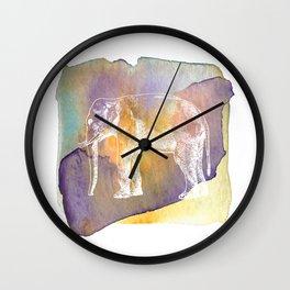 Color Spot Safari Elephant Wall Clock