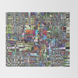 Colorful Chaotic Composite Throw Blanket
