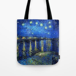 Starry Night Over the Rhone by Vincent van Gogh Tote Bag
