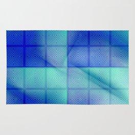 Blue shadows Rug
