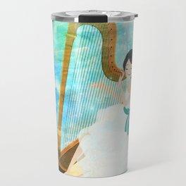 Harp girl: Music from the moon Travel Mug