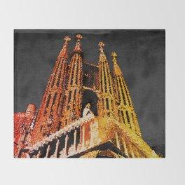Sagrada Familia - unfinished Throw Blanket
