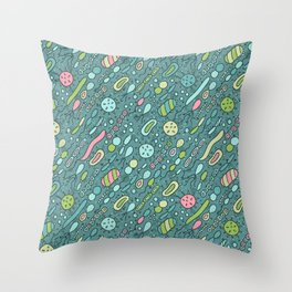 Microbes Throw Pillow