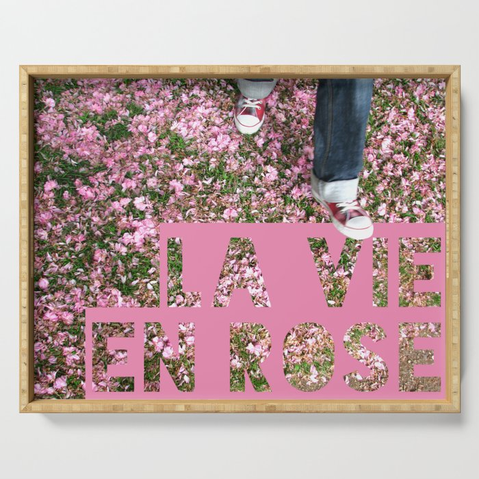 La vie en rose Serving Tray