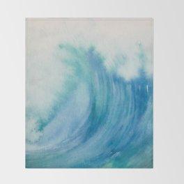 Watercolor Wave Throw Blanket