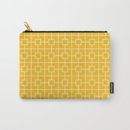 Amber Yellow Square Chain Pattern Design Carry-All Pouch