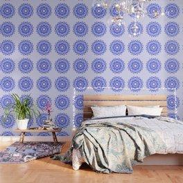 Floral mandala. violet texture. Wallpaper