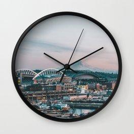 Seattle & Mount Rainier Wall Clock