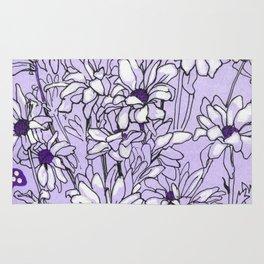 Chrysanthemum, violet version Rug