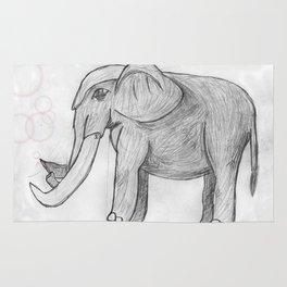 Elephant bubbles Rug