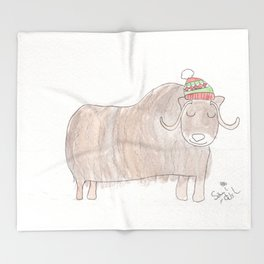 Musk Ox Throw Blanket