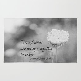 True Friends are Always Together in Spirit Rug