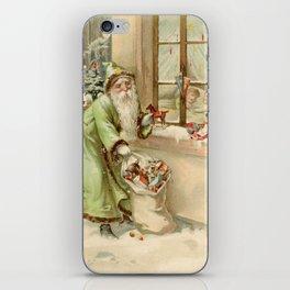 Santa Claus at the Window iPhone Skin
