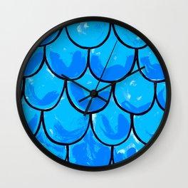 Blue roof tiles Wall Clock