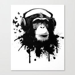 Monkey Business - White Canvas Print