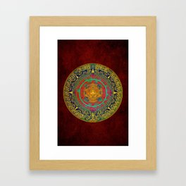 Aztec Sun God Framed Art Print