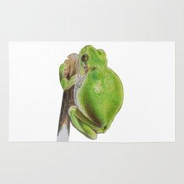 Plump Green Tree Frog Rug