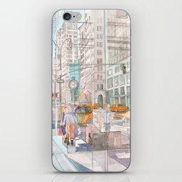 Reflection in the New York City windows II iPhone Skin