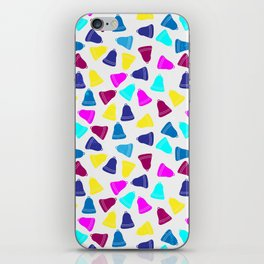 Colorful neon pink teal blue Christmas bells iPhone Skin