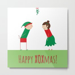 Happy XOXmas Metal Print