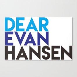 Dear Evan Hansen Canvas Print