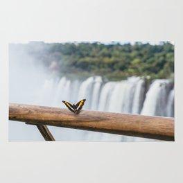 Butterfly over Iguazu Falls, Argentina Rug