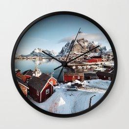 reine at lofoten Wall Clock