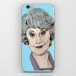 Dorothy Zbornak from The Golden Girls (Blue) iPhone Skin