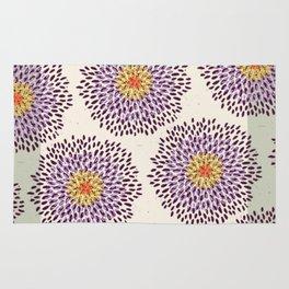 Purple Flower Burst Rug