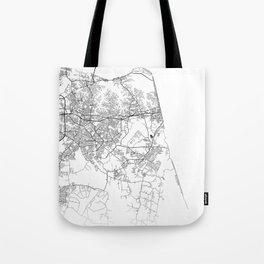 Minimal City Maps - Map Of Virginia Beach, Virginia, United States Tote Bag
