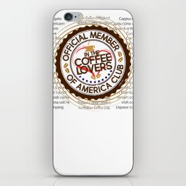 Coffee Lovers of America Club by Jeronimo Rubio 2016 iPhone Skin